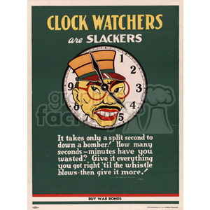 Clock Watchers Posters clipart. Commercial use image # 152909