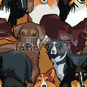 Dog seamless background background. Commercial use background # 371163