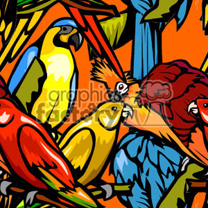 background backgrounds tile tiled tiles stationary tropical bird birds macaw orange