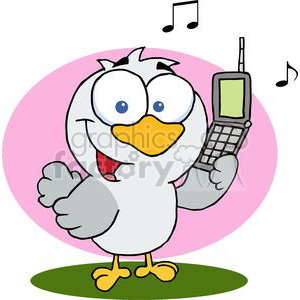 Calling Bird clipart. Royalty-free image # 377890