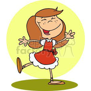 Lady Dancing clipart. Royalty-free image # 377895