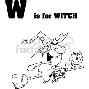 W as in Witch clipart. Royalty-free image # 377929