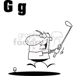 G as in Golfer clipart. Royalty-free image # 377944
