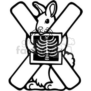 cartoon black white letter x x-ray