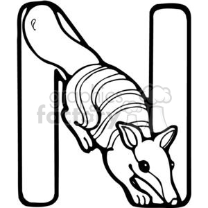 Letter N Numbat clipart. Royalty-free image # 380231
