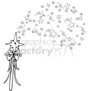 Fairy-Wand-Sprinkles clipart. Royalty-free image # 380241