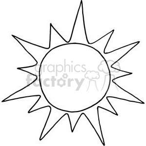 cartoon funny illustration summer sun