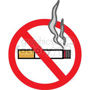 No Smoking Sign clipart. Commercial use image # 380276