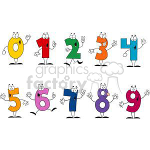number set clipart. Royalty-free image # 380301