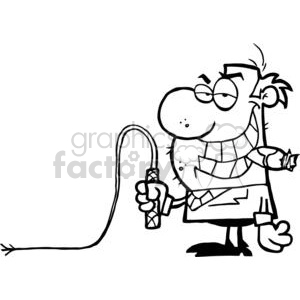 2804-Big-Boss-With-A-Whip-In-His-Hand clipart. Commercial use image # 380381