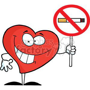 2914-Red-Heart-Holding-up-A-No-Smoking-Sign clipart. Royalty-free image # 380391