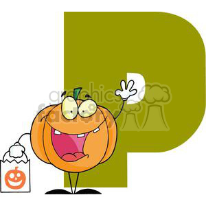 2760-Funny-Cartoon-Alphabet-P clipart. Royalty-free image # 380401