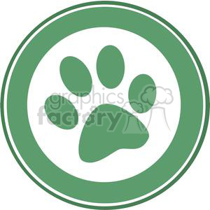2773-Green-Paw-Print-Banner clipart. Commercial use image # 380406