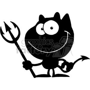 2780-Cartoon-Devil-Black-Silhouette clipart. Commercial use image # 380411