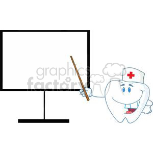 2985-Doctor-Tooth-Shows-A-Pointer-On-A-Board clipart. Commercial use image # 380491