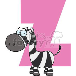 2770-Funny-Cartoon-Alphabet-Z clipart. Commercial use image # 380536