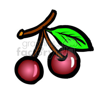 dark red cherries clipart. Royalty-free image # 141916