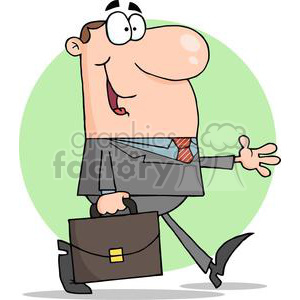 3265-Businessman-Walking clipart. Commercial use image # 380590