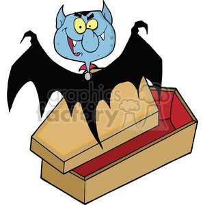 3212-Happy-Vampire-Out-Of-The-Coffin clipart. Commercial use image # 380645