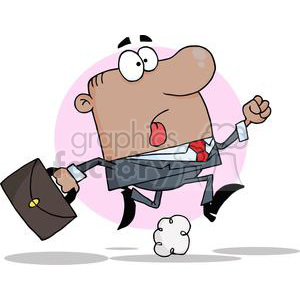 business man running to a meeting clipart. Commercial use image # 380685