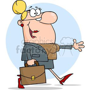3273-Businesswoman-Walking clipart. Royalty-free image # 380690