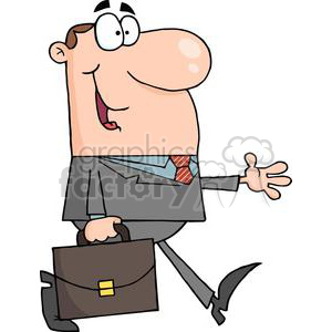 3264-Businessman-Walking clipart. Commercial use image # 380745