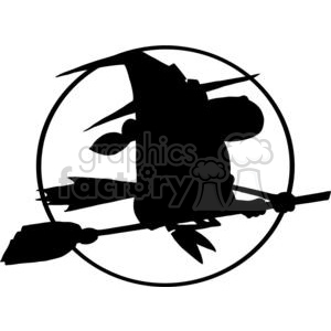 with flying silhouette clipart. Royalty-free image # 380770