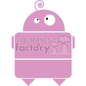 pink girl robot clipart. Commercial use image # 380785