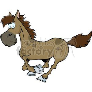 3368-Cartoon-Horse-Running clipart. Royalty-free image # 380841
