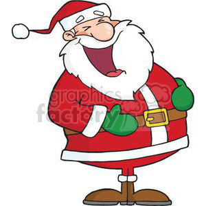 cartoon funny Holidays vector Santa happy Claus laugh laughing Saint Nick
