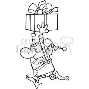 3333-Happy-Santas-Elf-Runs-With-Gift