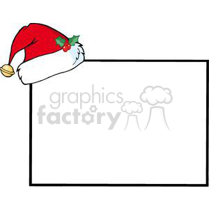 blank board wit ha Santa hat on the corner clipart. Royalty-free image # 380916