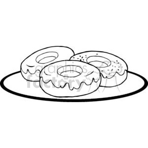 3490-Donuts clipart. Commercial use image # 380971