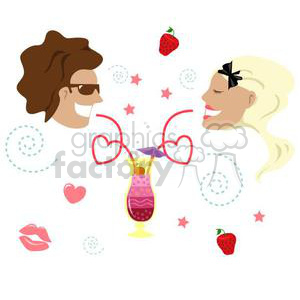 couple on date night clipart. Commercial use image # 381046
