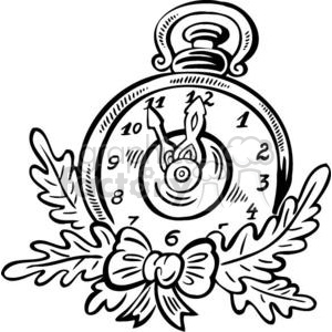 Christmas clock clipart. Commercial use image # 381070