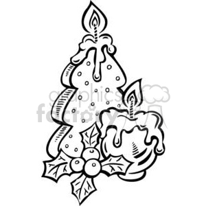 Christmas tree candles clipart. Commercial use image # 381095
