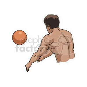 volleyball player clipart. Commercial use image # 381162