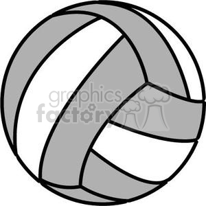 royalty free volleyball grey and white 381178 vector clip art image rh graphicsfactory com volley ball image clipart