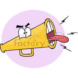 3617-Megafon-Cartoon-Character clipart. Royalty-free image # 381212
