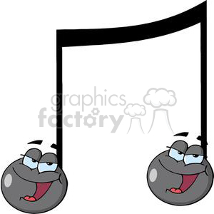 3623-Double-Musical-Note-Singing clipart. Commercial use image # 381217