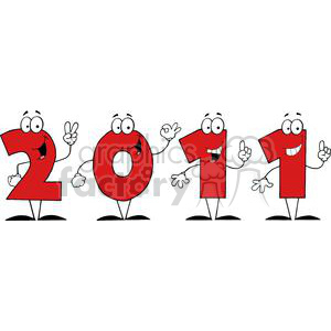 3814-2011-Year-Cartoon-Character clipart. Commercial use image # 381287