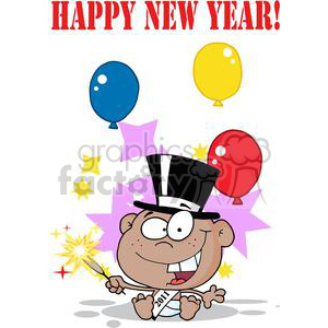 3740-New-Year-Baby-Cartoon-Callendar clipart. Royalty-free image # 381317
