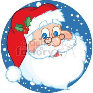 Classic Santa Claus Head animation. Royalty-free animation # 381347