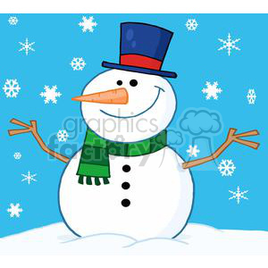 3696-Friendly-Snowman clipart. Royalty-free image # 381357