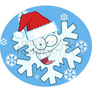 3782-Cartoon-Snowflake clipart. Royalty-free image # 381362