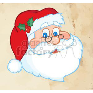 3749-Merry-Christmas-Greeting-With-Santa-Claus clipart. Commercial use image # 381382