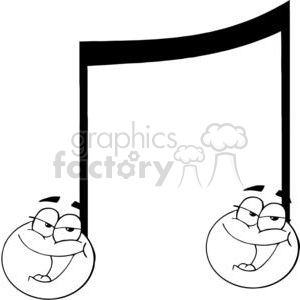 Double-Musical-Note-Singing clipart. Royalty-free image # 381432