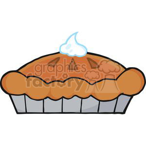 3534-Thanksgiving-Pie clipart. Commercial use image # 381452