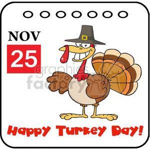 3537-Thanksgiving-Holiday-Calendar animation. Royalty-free animation # 381457