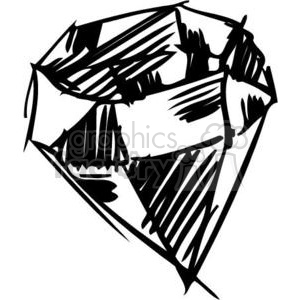 Vector diamond sketch clipart. Commercial use image # 137068